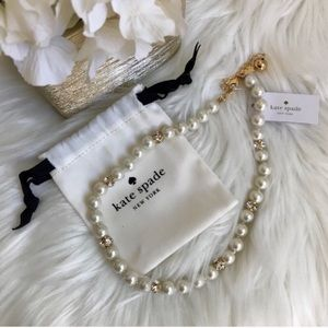 NEW Kate Spade pearl diamond necklace